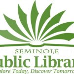 Seminole Public Library logo with words, Explore Today, Discover Tomorrow