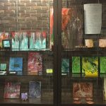 Library Display of Acrylic Pour Images